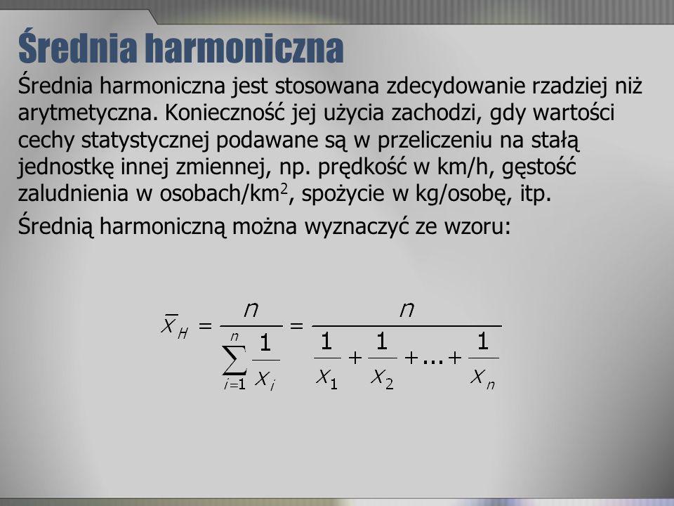 Średnia harmoniczna