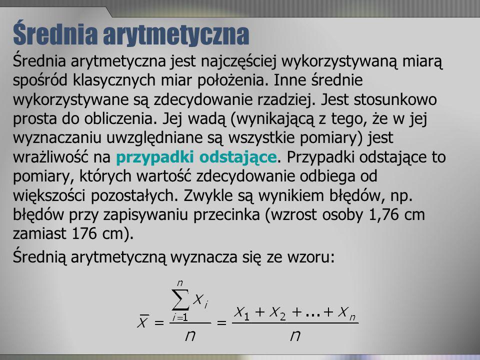 Średnia arytmetyczna
