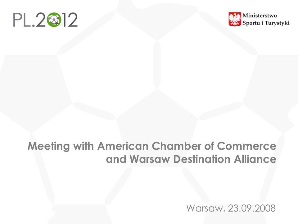 Tytuł prezentacjiMeeting with American Chamber of Commerce and Warsaw Destination Alliance. Miejscowość, DD MM RRRR.