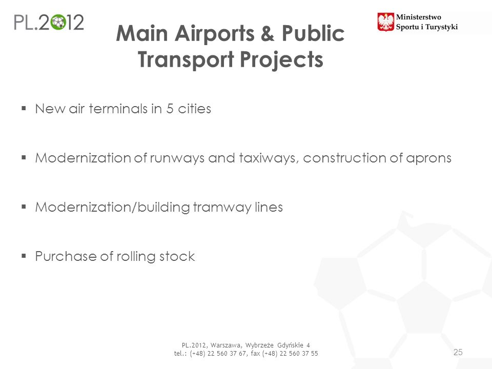 Main Airports & Public Transport Projects