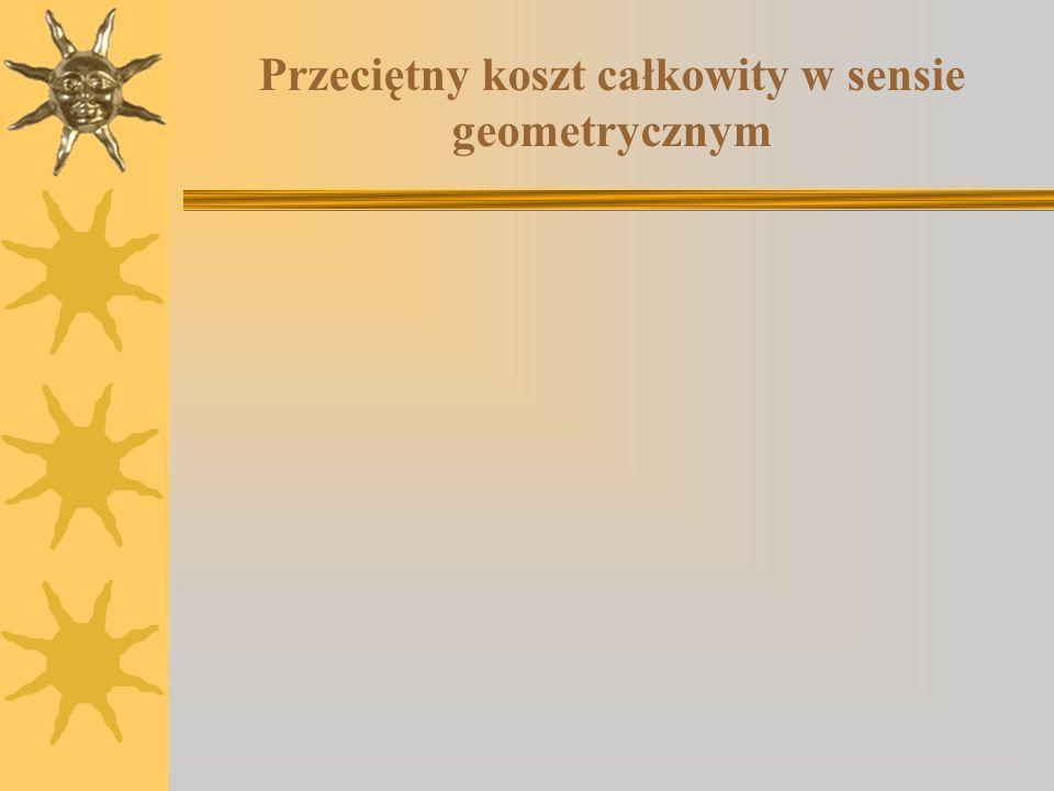 Przeciętny koszt całkowity w sensie geometrycznym