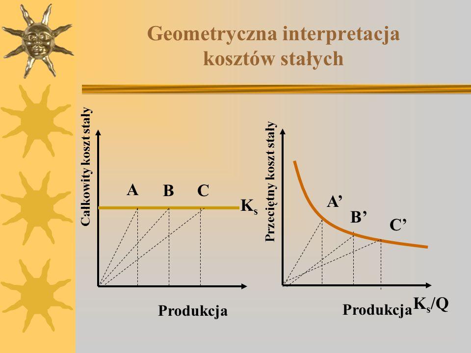 Geometryczna interpretacja kosztów stałych