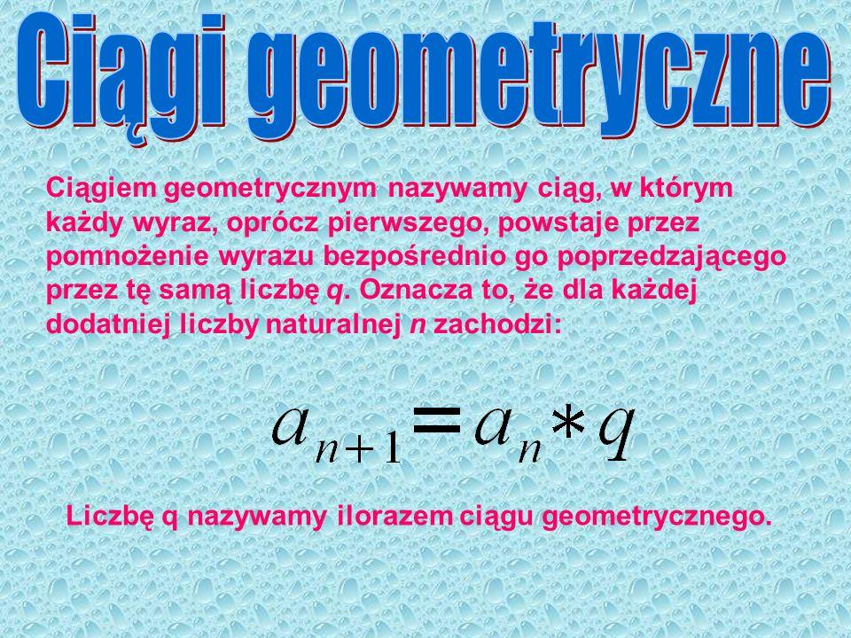 Ciągi geometryczne