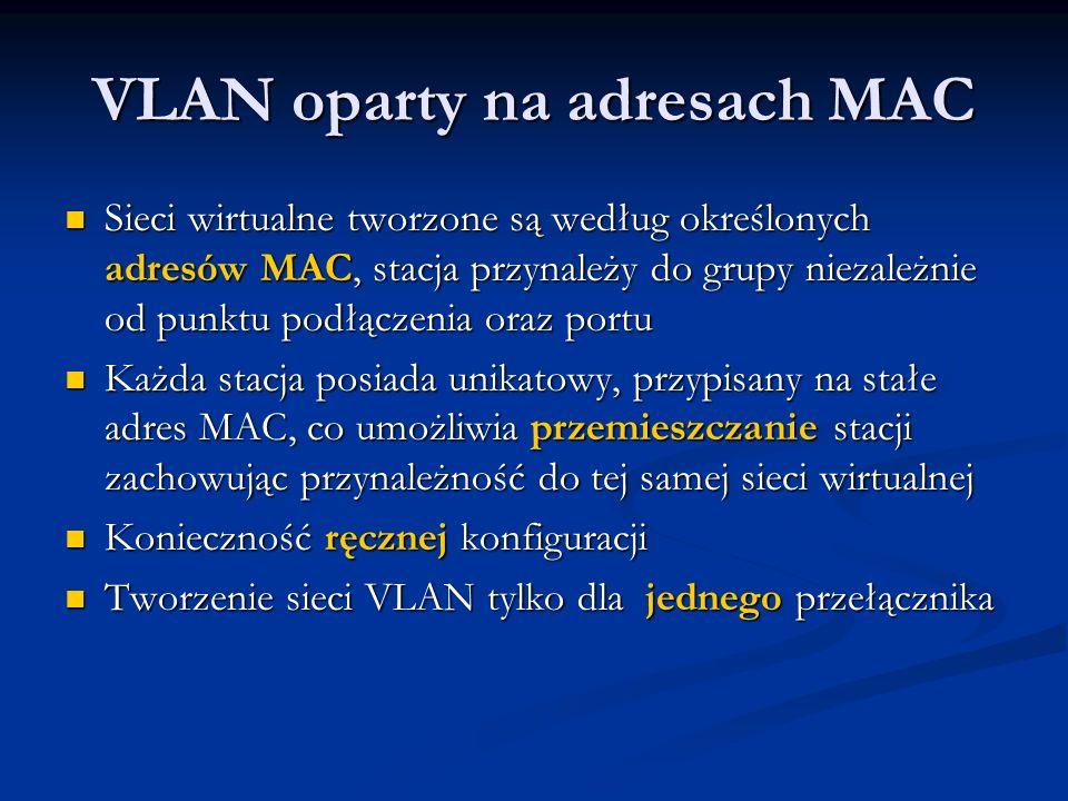 VLAN oparty na adresach MAC