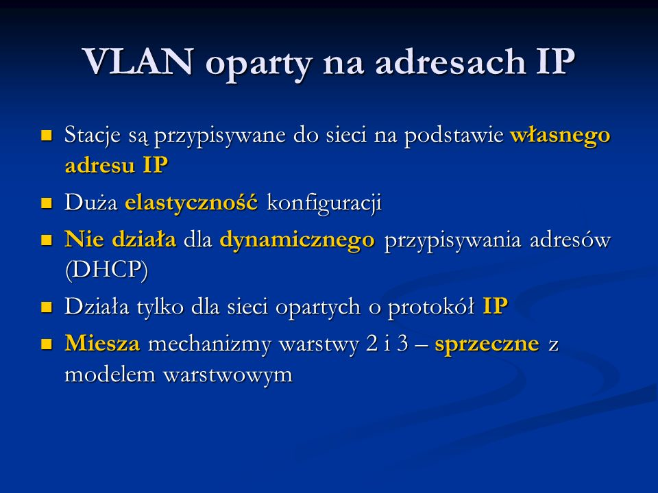 VLAN oparty na adresach IP