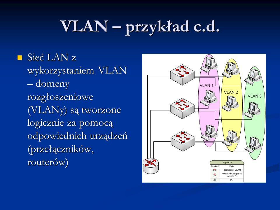 VLAN – przykład c.d.
