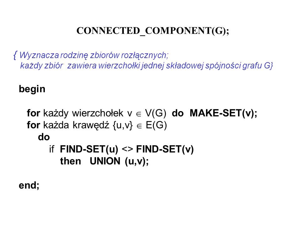 CONNECTED_COMPONENT(G);