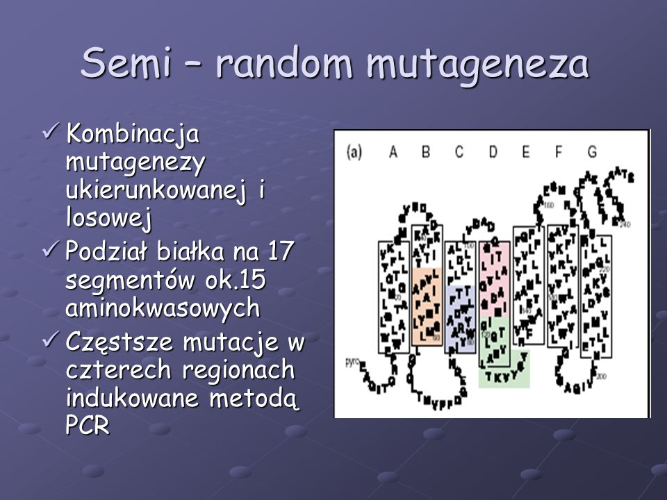 Semi – random mutageneza