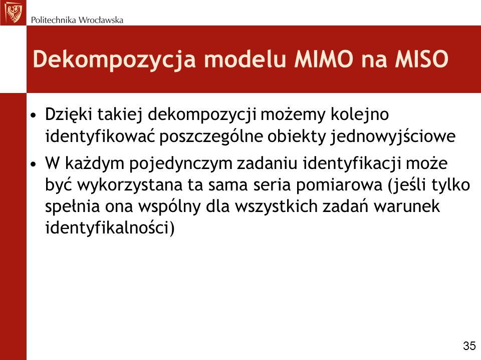 Dekompozycja modelu MIMO na MISO