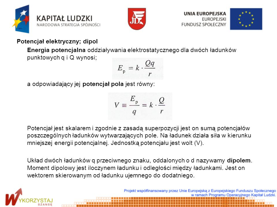Potencjał elektryczny; dipol