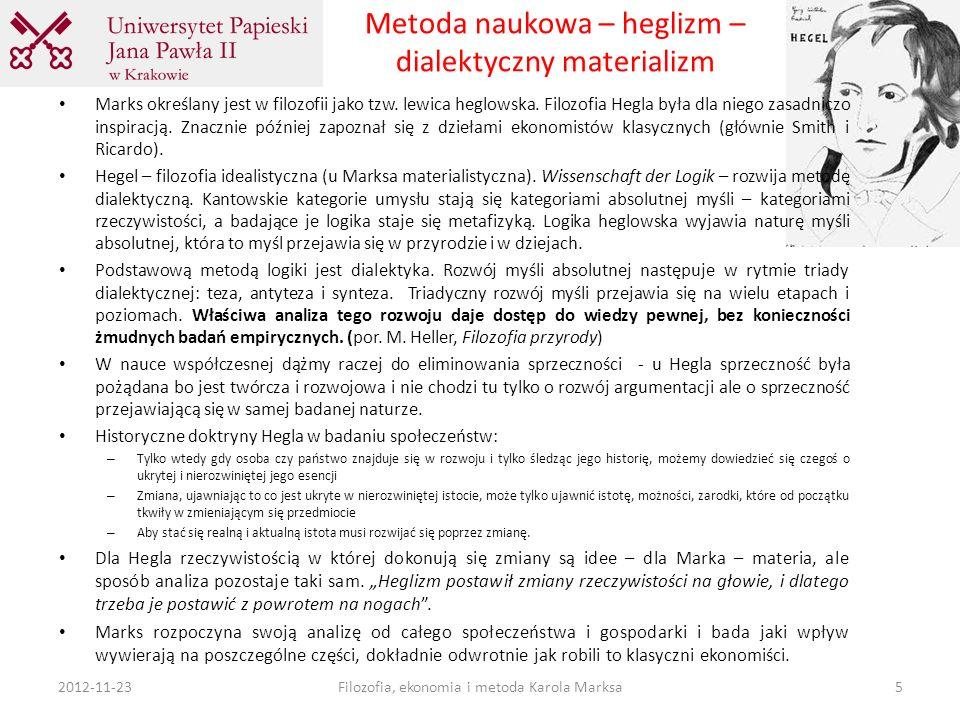Metoda naukowa – heglizm – dialektyczny materializm