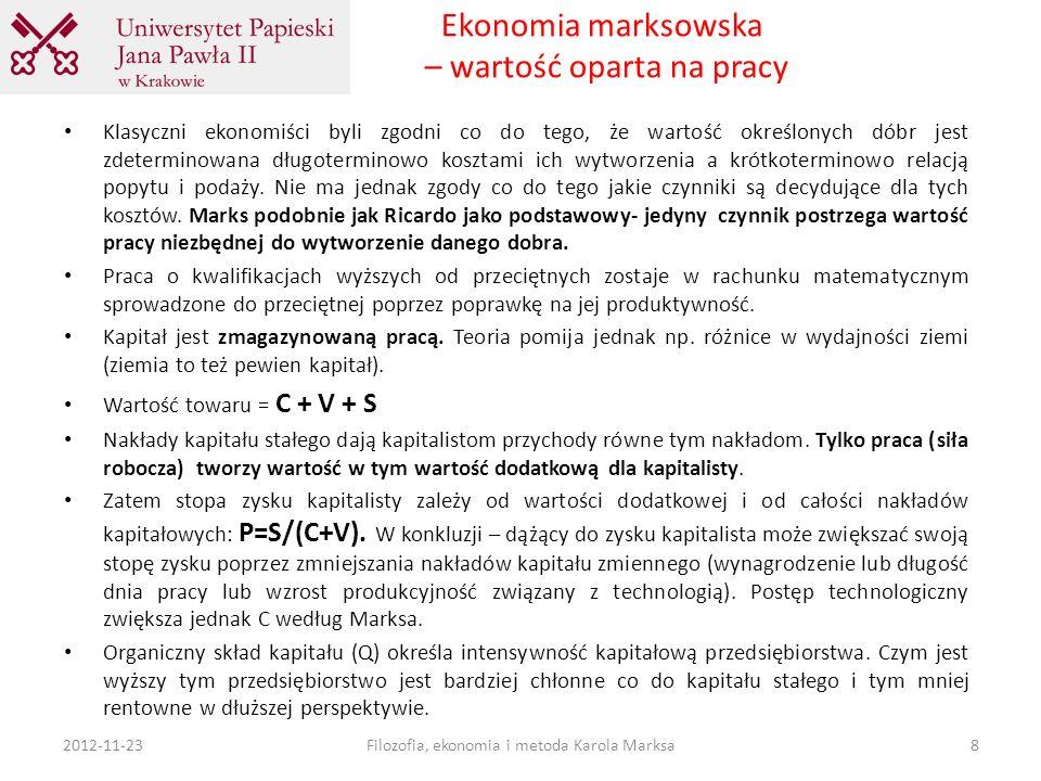 Ekonomia marksowska – wartość oparta na pracy
