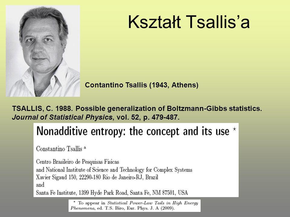 Kształt Tsallis'a Contantino Tsallis (1943, Athens)