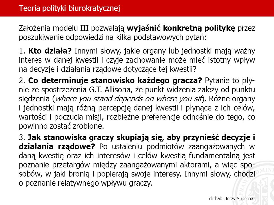 Teoria polityki biurokratycznej
