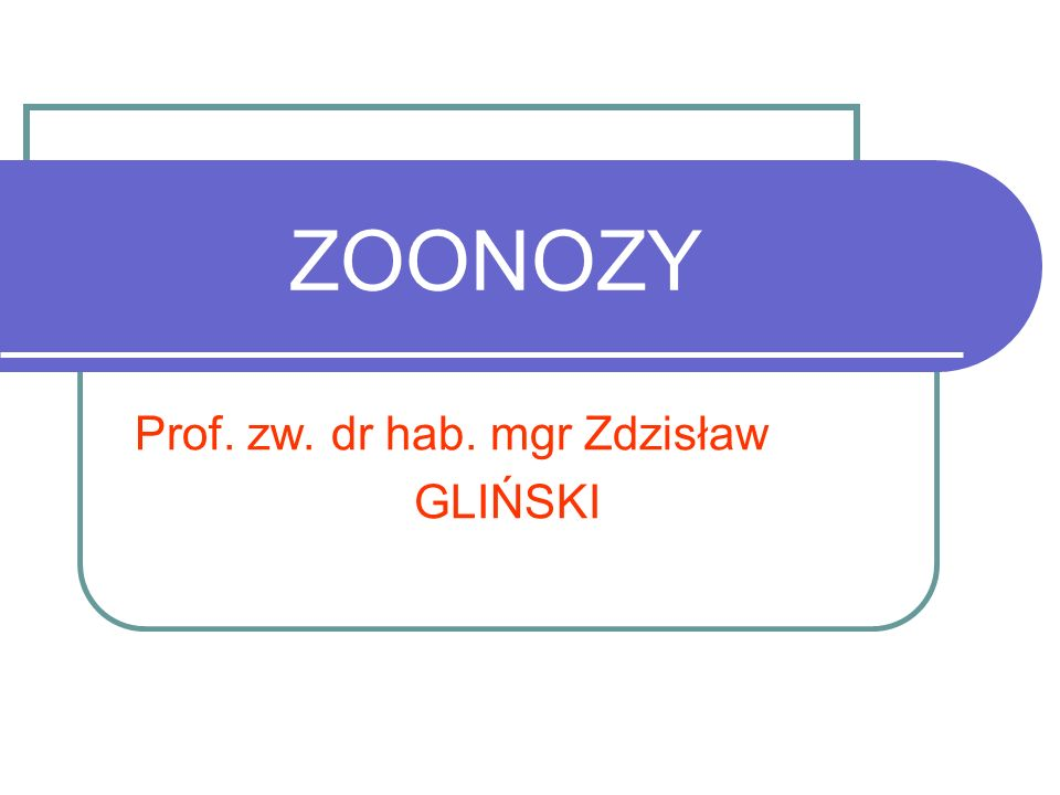 Prof. zw. dr hab. mgr Zdzisław GLIŃSKI