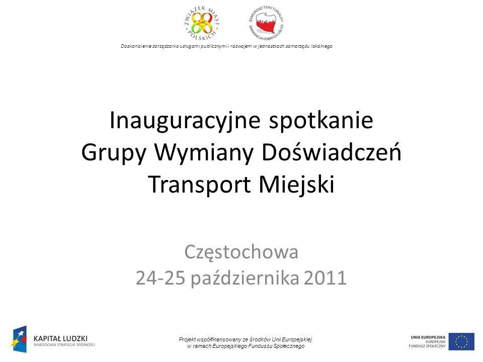 Inauguracyjne spotkanie Grupy Wymiany Doświadczeń Transport Miejski