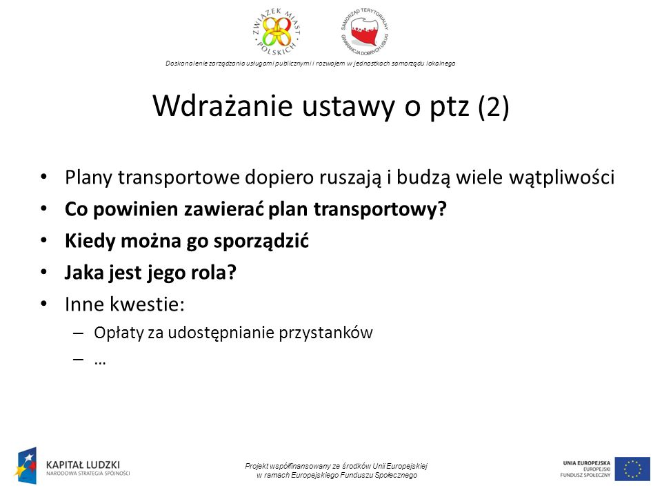 Wdrażanie ustawy o ptz (2)