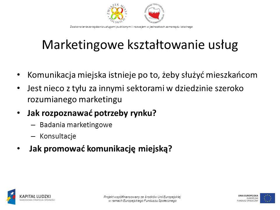 Marketingowe kształtowanie usług