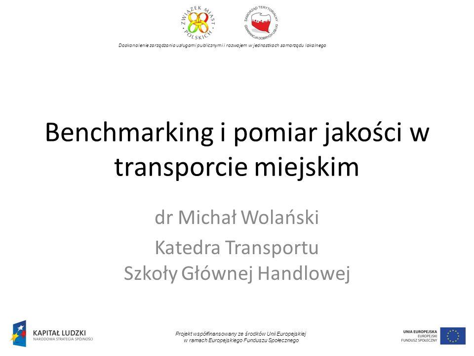 Benchmarking i pomiar jakości w transporcie miejskim