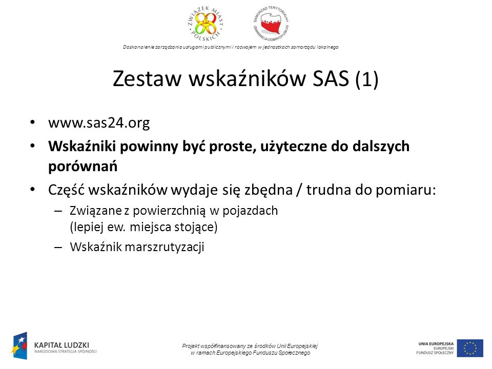 Zestaw wskaźników SAS (1)