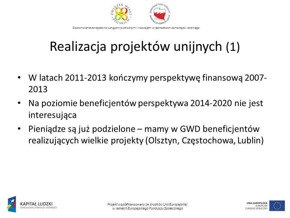 Realizacja projektów unijnych (1)