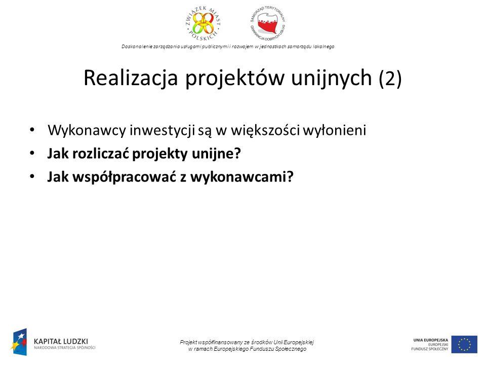 Realizacja projektów unijnych (2)