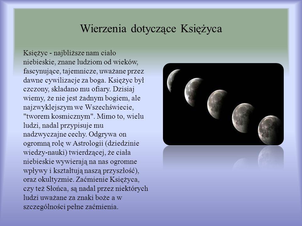 Wierzenia dotyczące Księżyca