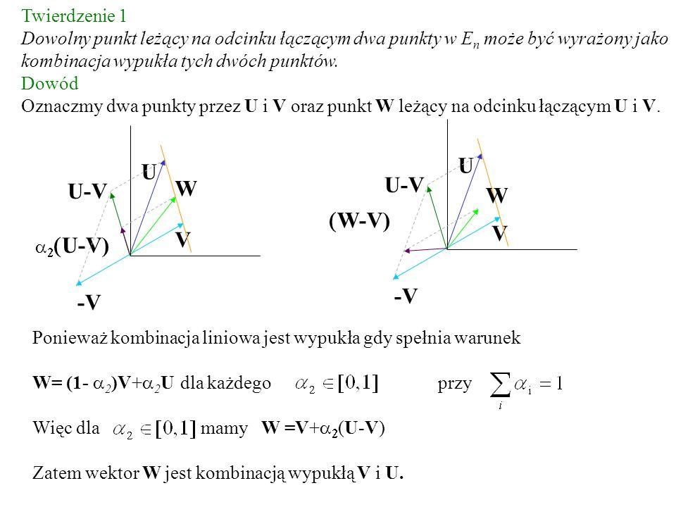 U U U-V W U-V W (W-V) V V -V -V Twierdzenie 1