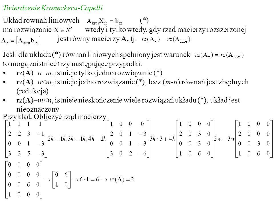 Twierdzenie Kroneckera-Capelli