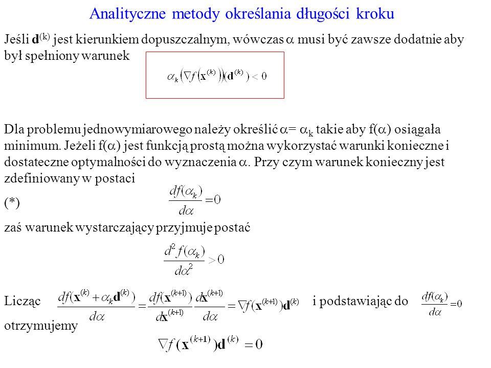 Analityczne metody określania długości kroku