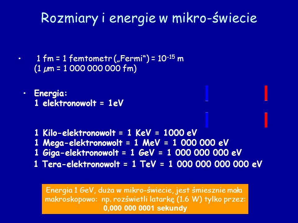 Rozmiary i energie w mikro-świecie