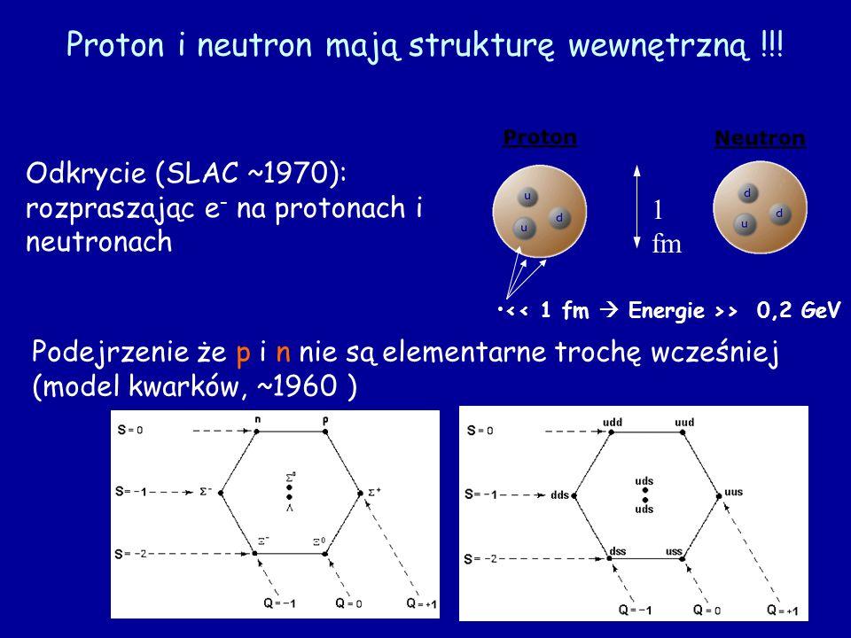 Proton i neutron mają strukturę wewnętrzną !!!