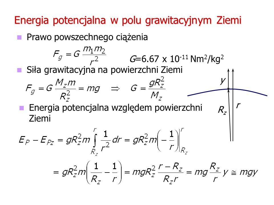 Energia potencjalna w polu grawitacyjnym Ziemi