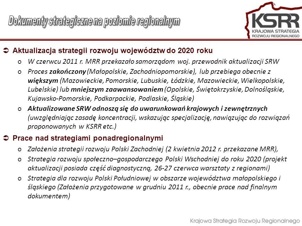 Dokumenty strategiczne na poziomie regionalnym