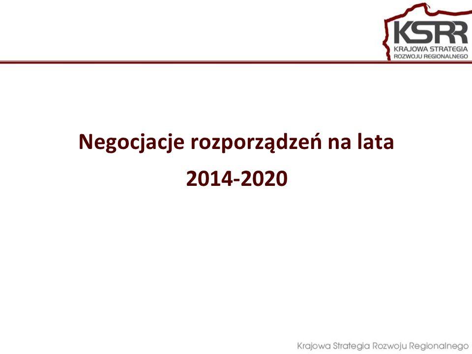 Negocjacje rozporządzeń na lata