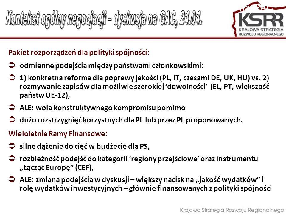 Kontekst ogólny negocjacji – dyskusja na GAC, 24.04.