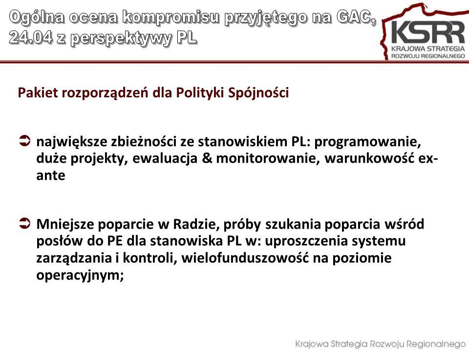 Ogólna ocena kompromisu przyjętego na GAC, 24.04 z perspektywy PL