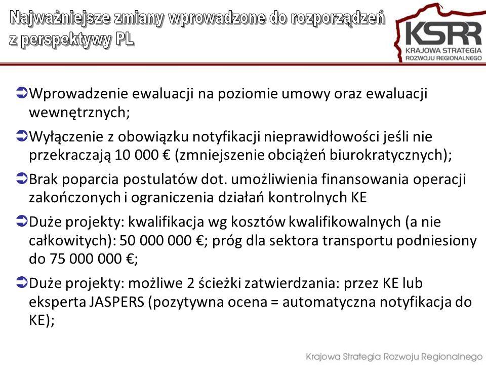 Najważniejsze zmiany wprowadzone do rozporządzeń z perspektywy PL