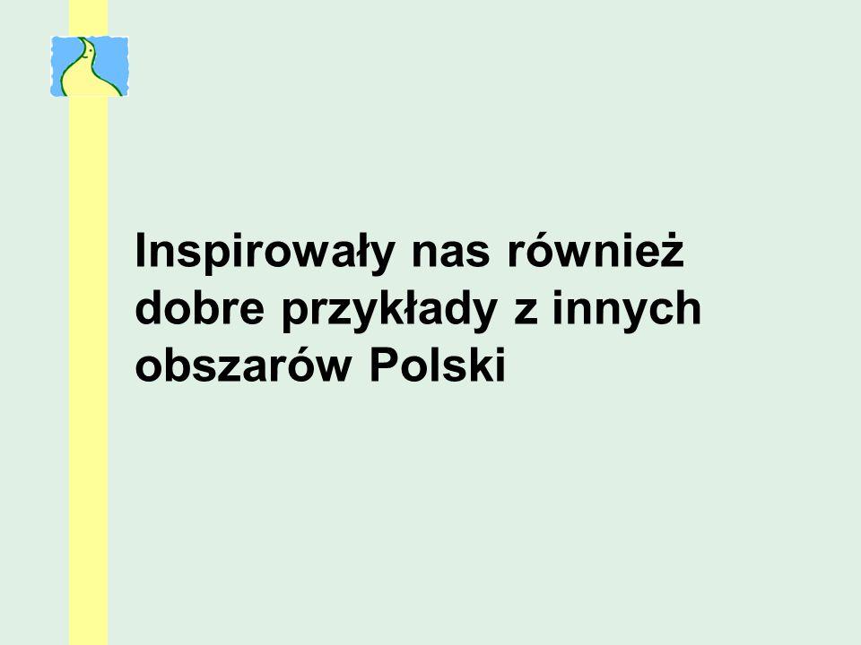 Inspirowały nas również dobre przykłady z innych obszarów Polski