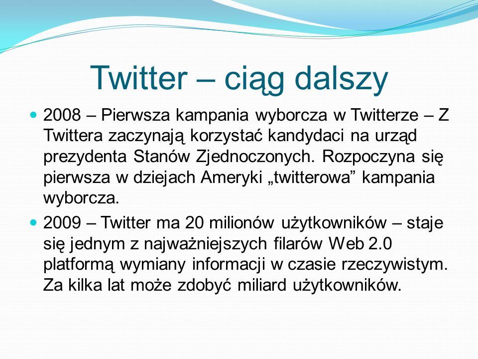 Twitter – ciąg dalszy