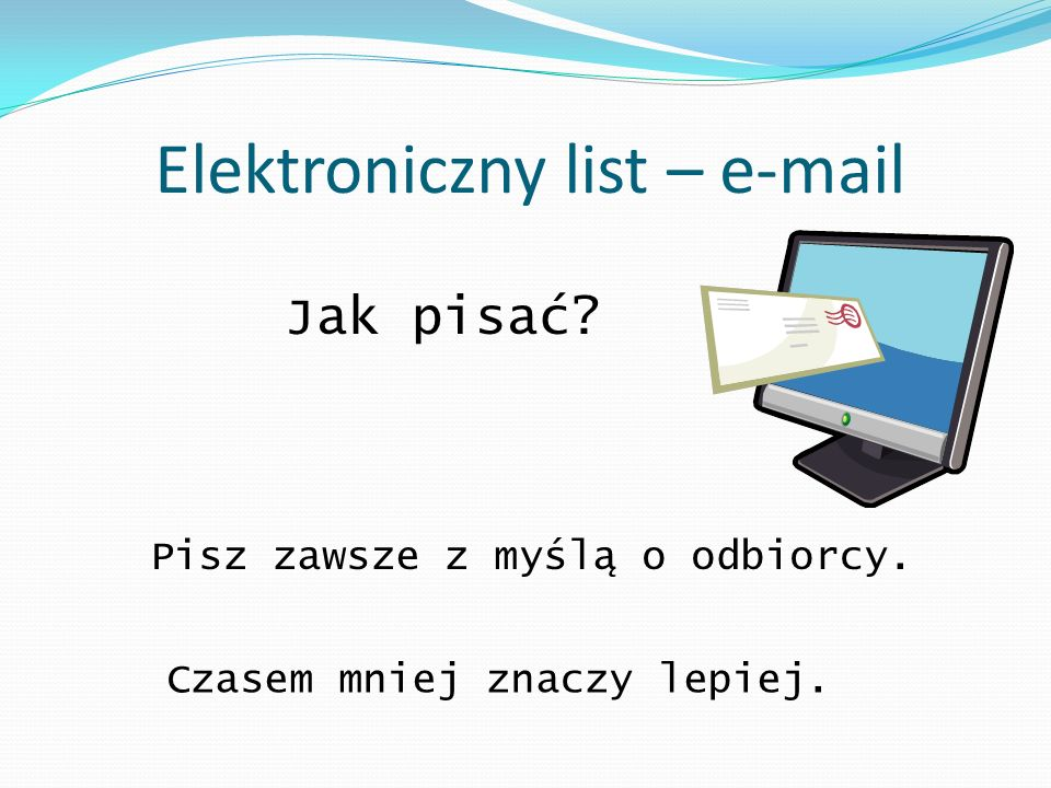 Elektroniczny list – e-mail