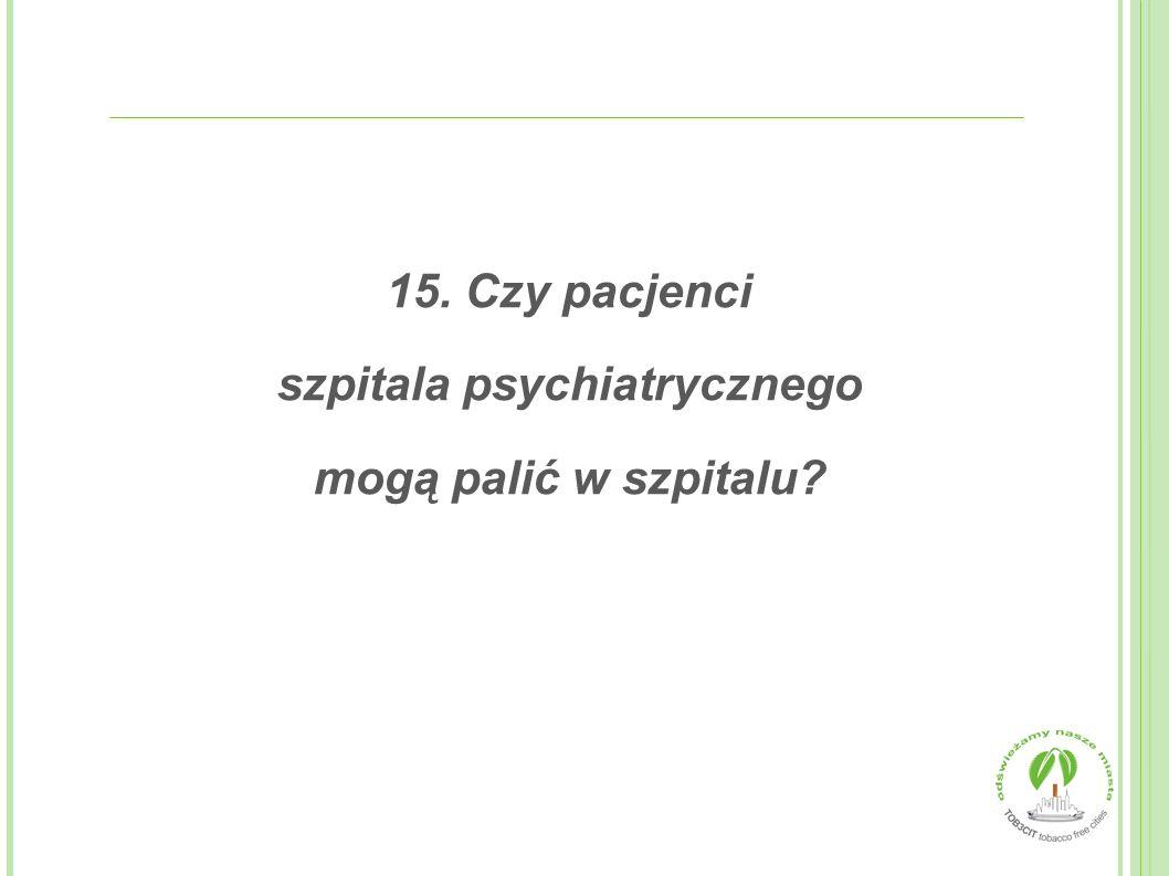 szpitala psychiatrycznego