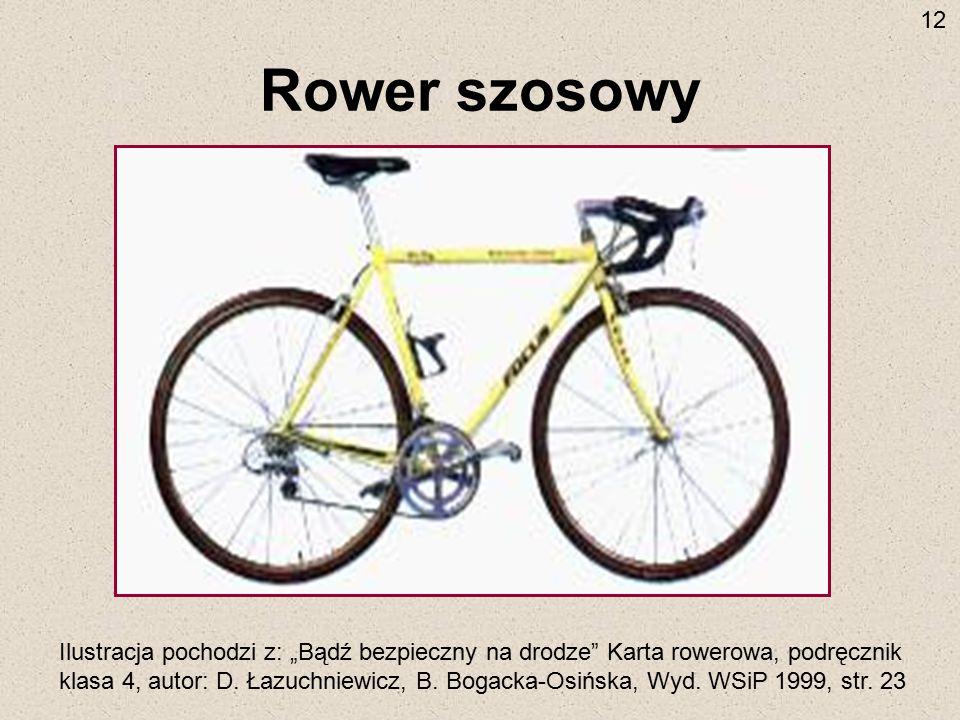 12 Rower szosowy.
