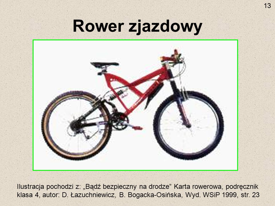 13 Rower zjazdowy.