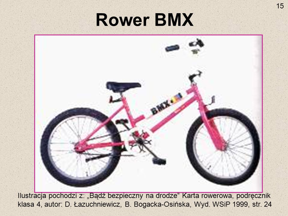 15 Rower BMX.