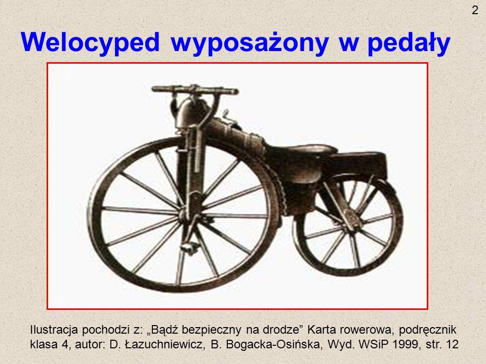 Welocyped wyposażony w pedały