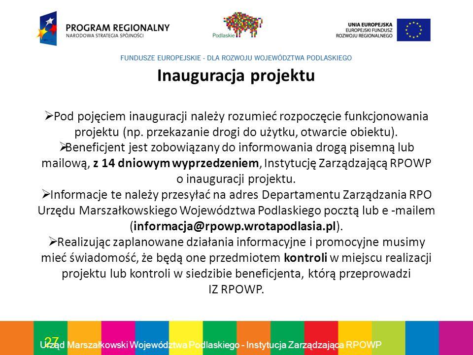 Inauguracja projektu