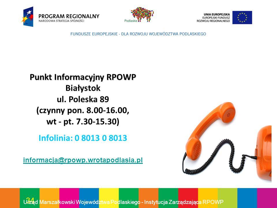 Punkt Informacyjny RPOWP Białystok