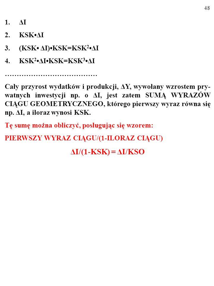 ΔI/(1-KSK) = ΔI/KSO ΔI KSK•ΔI (KSK• ΔI)•KSK=KSK2•ΔI