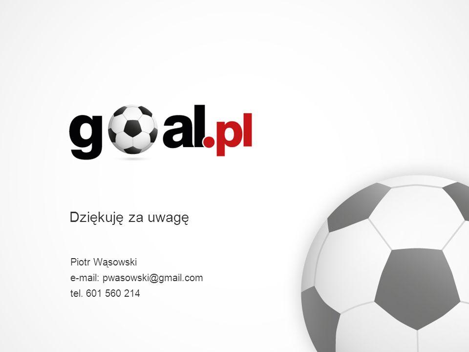 Dziękuję za uwagę Piotr Wąsowski e-mail: pwasowski@gmail.com